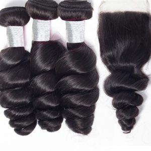 HD LACE CLOSURE LOOSE WAVE + BUNDLE DEAL