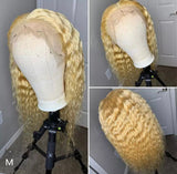 613 Blonde Glueless Lace Front Human Hair Wigs Brazilian Deep Wave Short Bob Wigs 4x4 Lace Closure Wig HD Transparent Hair Wigs