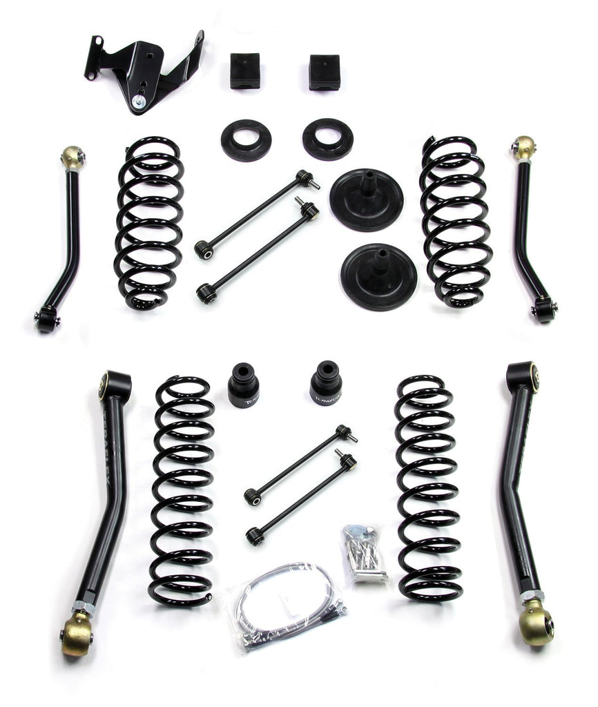 JK 4 Door 3 Inch Lift Kit W/4 FlexArms 07-Pres Wrangler JK Unlimited TeraFlex