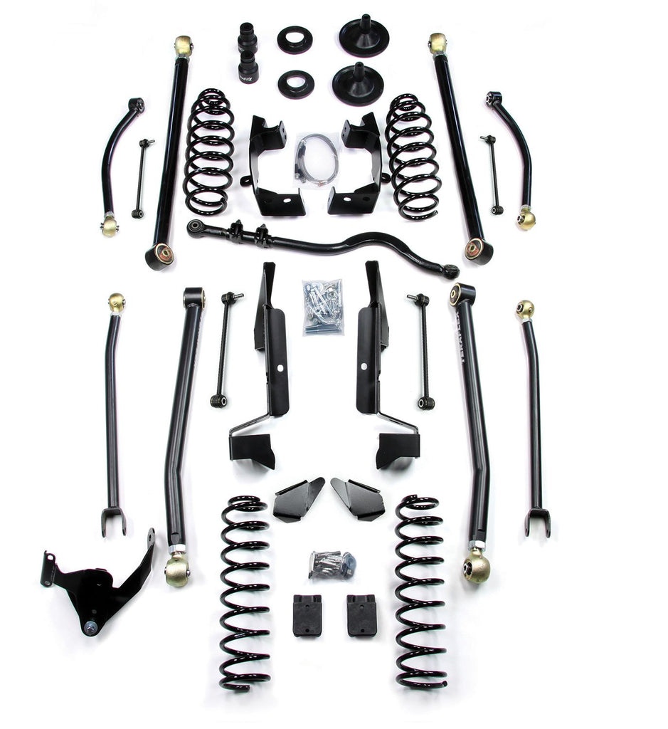 JK 4 Door 3 Elite LCG Long FlexArm Lift Kit 07-Pres Wrangler JK Unlimited TeraFlex