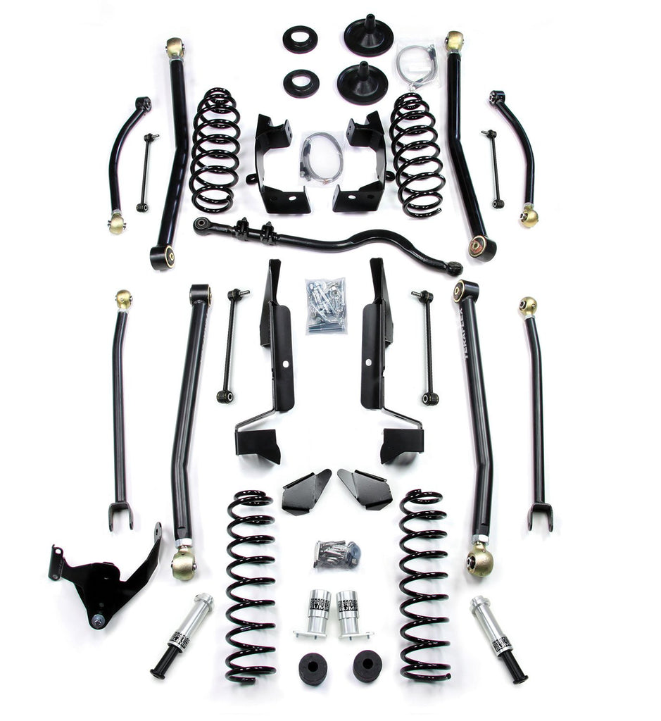JK 2 Door 4 Elite LCG Long FlexArm Lift Kit W/SpeedBumps 07-Pres Wrangler JK TeraFlex