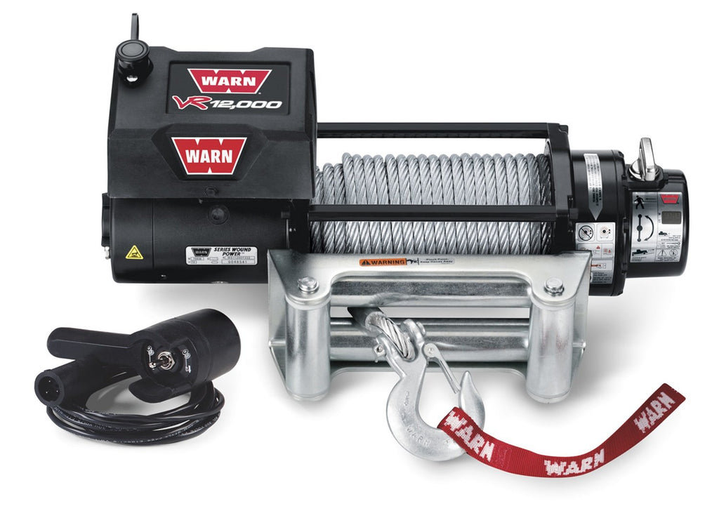 Warn 86260 12000 Pound Winch Vehicle Recovery with Wire Rope