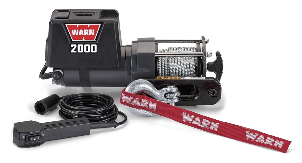 Warn 92000 2000 Pound Utility Winch with Wire Rope