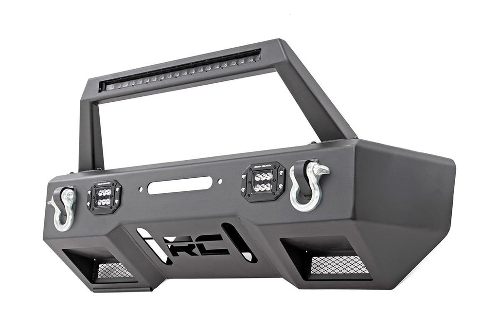 2007-2017 Jeep Wrangler JK LED Winch Bumper And 9500 lb. Winch Combo Kit