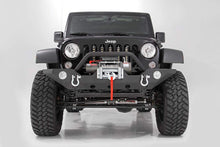 Load image into Gallery viewer, 07-17 Jeep Wrangler JK 4WD Full-Width Sport Front Winch Bumper w/ D-Rings