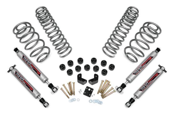 97-06 Jeep Wrangler TJ 4WD 3.75-inch Suspension & Body Lift Combo System