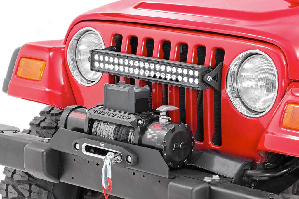 1997-2006 Jeep Wrangler TJ 4WD 20-inch Single or Dual Row LED Light Bar Grille Mounting Brackets