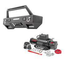 Load image into Gallery viewer, 2007-2017 Jeep Wrangler JK LED Winch Bumper And 9500 lb. Winch Combo Kit