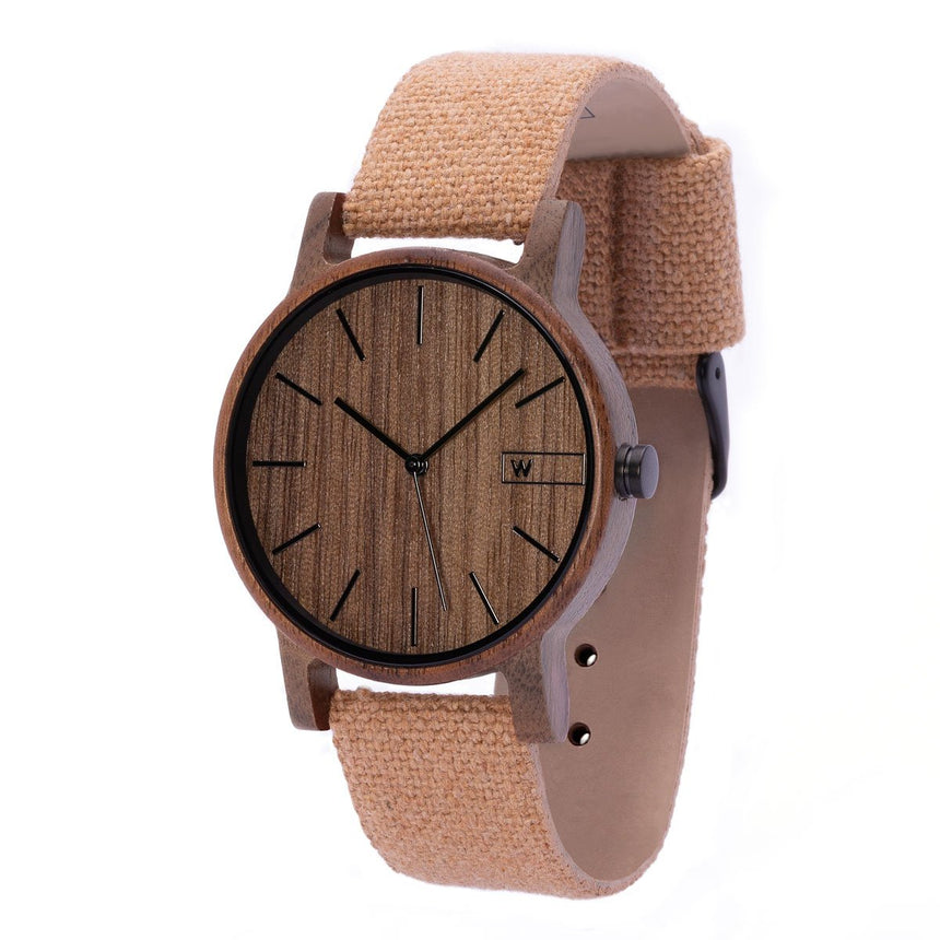 Wood Watch | Woodz Eko Nut (Organic Cotton Strap)
