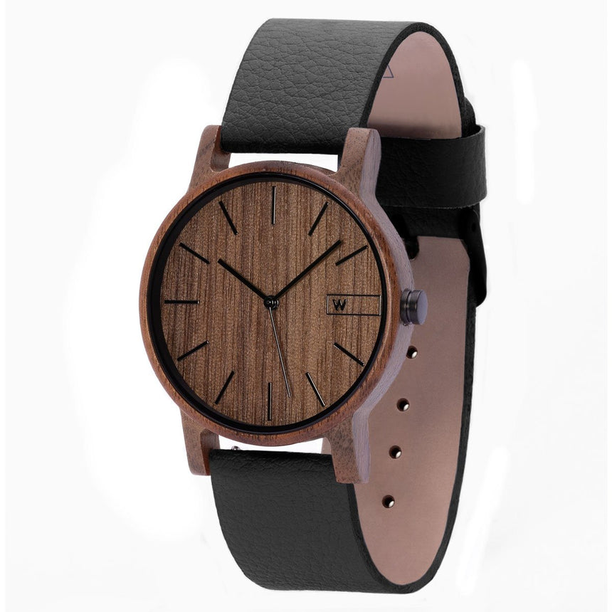 Wood Watch | Woodz Eko Nut (Pinatex Black Strap)