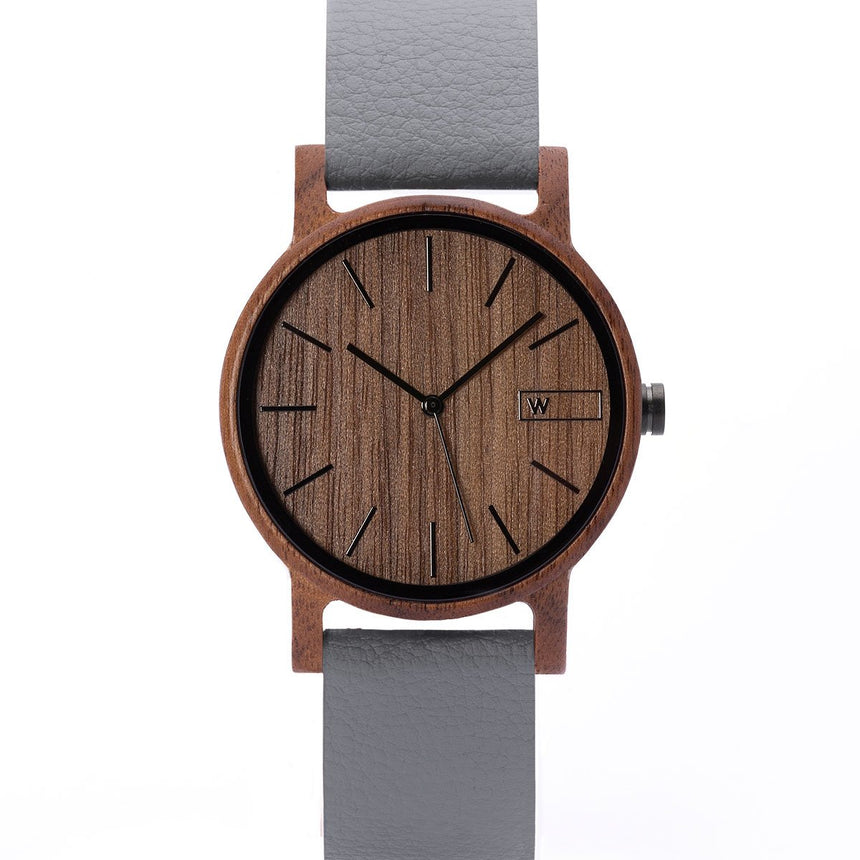 Wood Watch | Woodz Eko Nut (Pinatex Grey Strap)