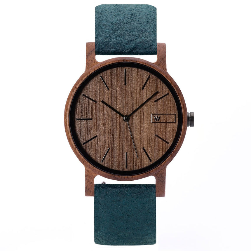 Wood Watch | Woodz Eko Nut (Pinatex Marine Strap)