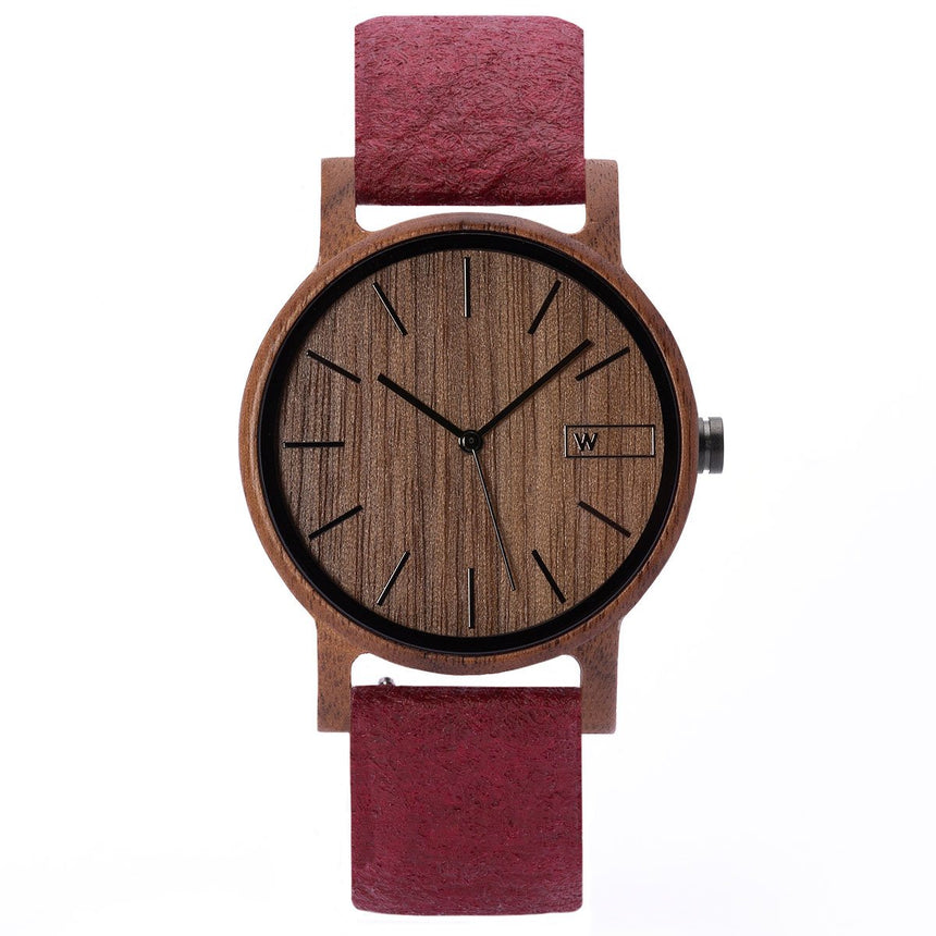 Wood Watch | Woodz Eko Nut (Pinatex Mulberry Strap)