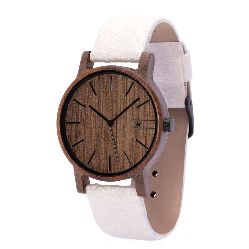 Wood Watch | Woodz Eko Nut (Pinatex Pearl Strap)