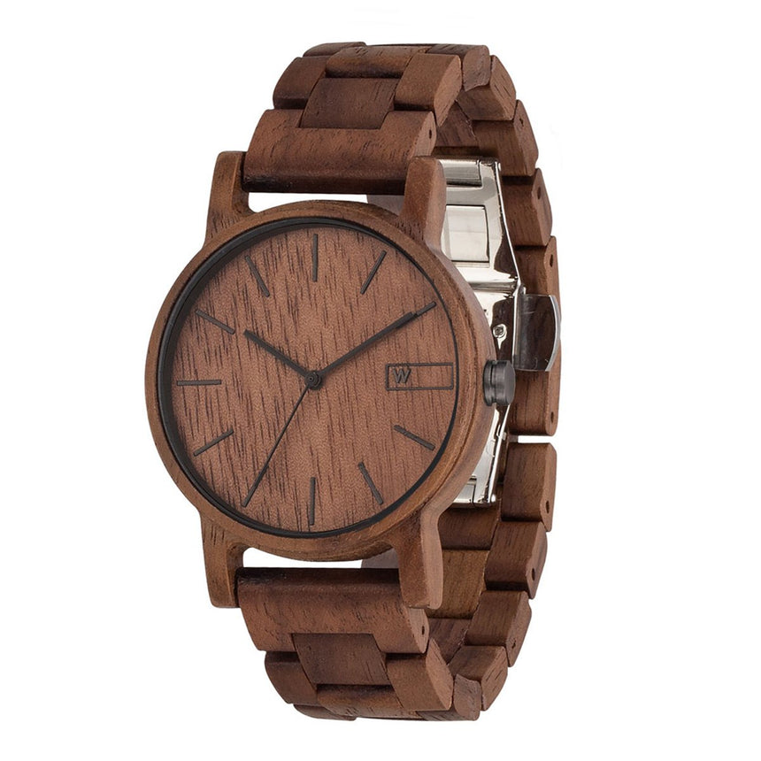 Wood Watch | Woodz Eko Nut (Walnut Wood Strap)