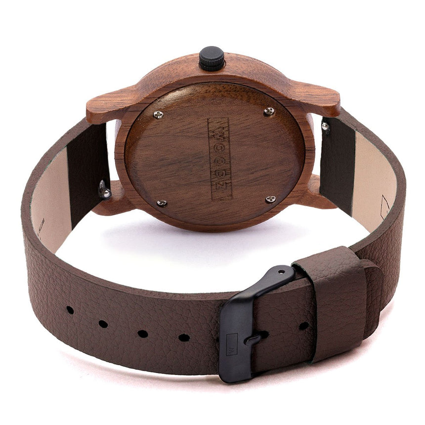 Wood Watch | Woodz Kor Nut (Pinatex Coffee Strap)