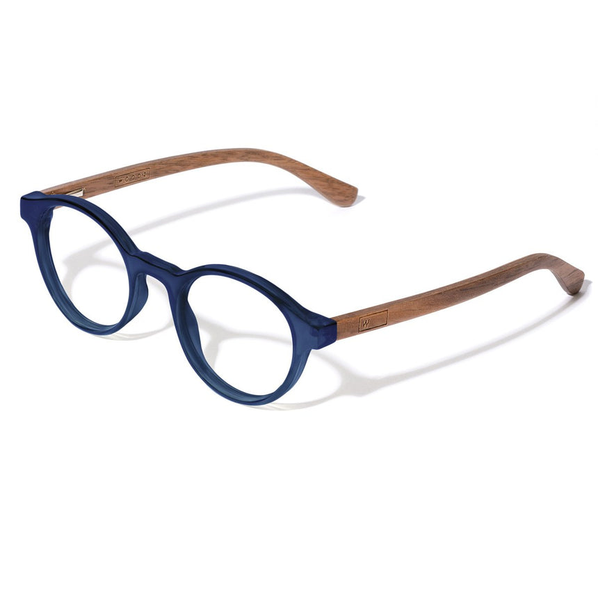 Acetate & Wood Optical Glasses | Woodz Nino Blue