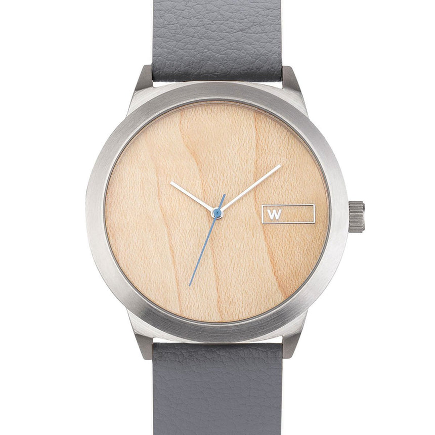 Steel & Wood Watch | Woodz Titan Natura (Pinatex Grey Strap)