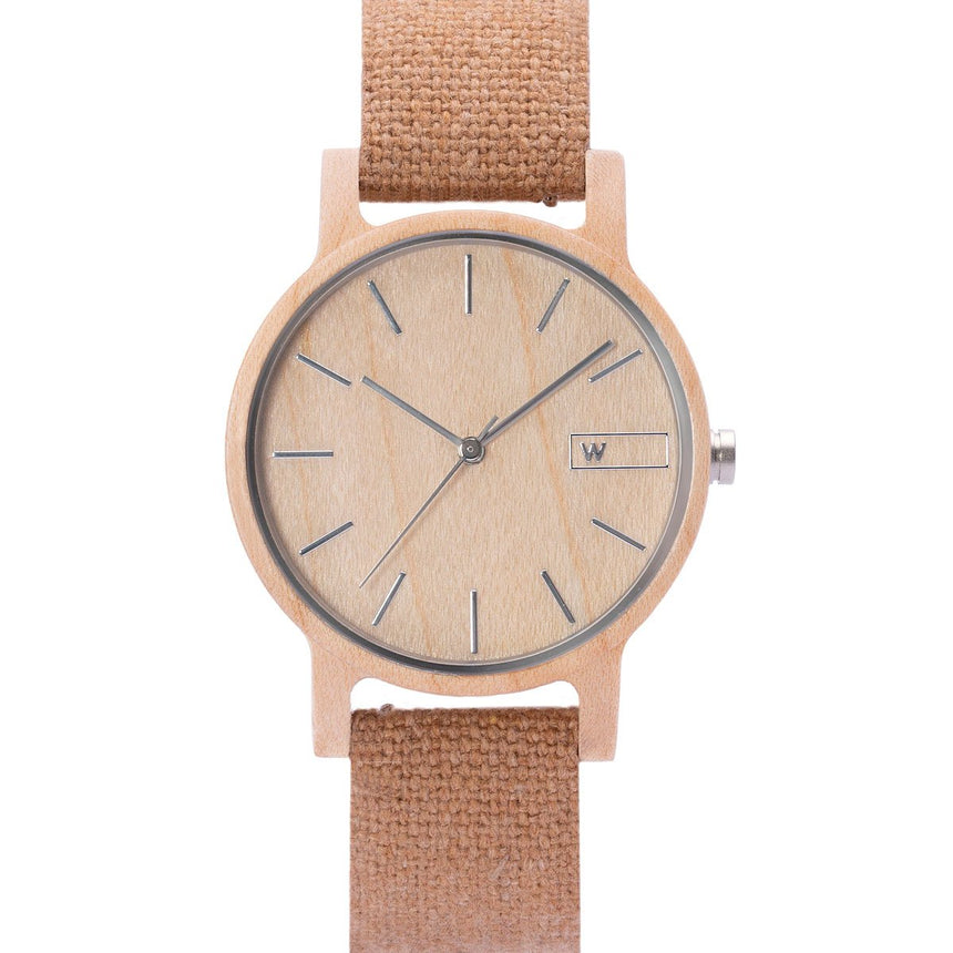 Wood Watch | Woodz Vita Natura (Organic Cotton Nude Strap)