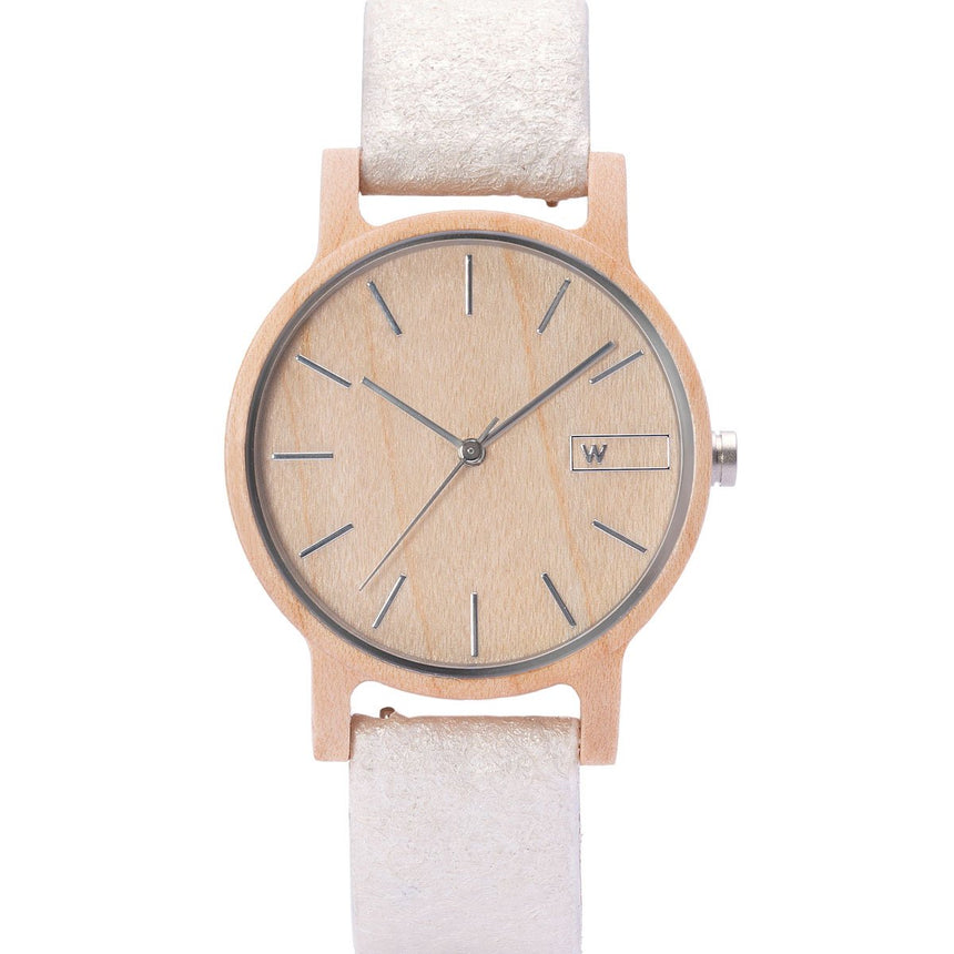 Wood Watch | Woodz Vita Natura (Pinatex Pearl Strap)