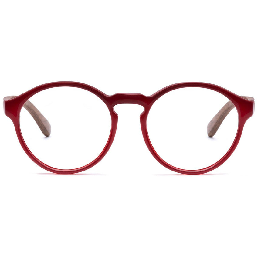 Acetate & Wood Optical Glasses | Woodz Elli Red