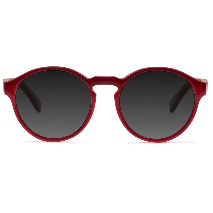 Acetate & Wood Sunglasses | Woodz Elli Red