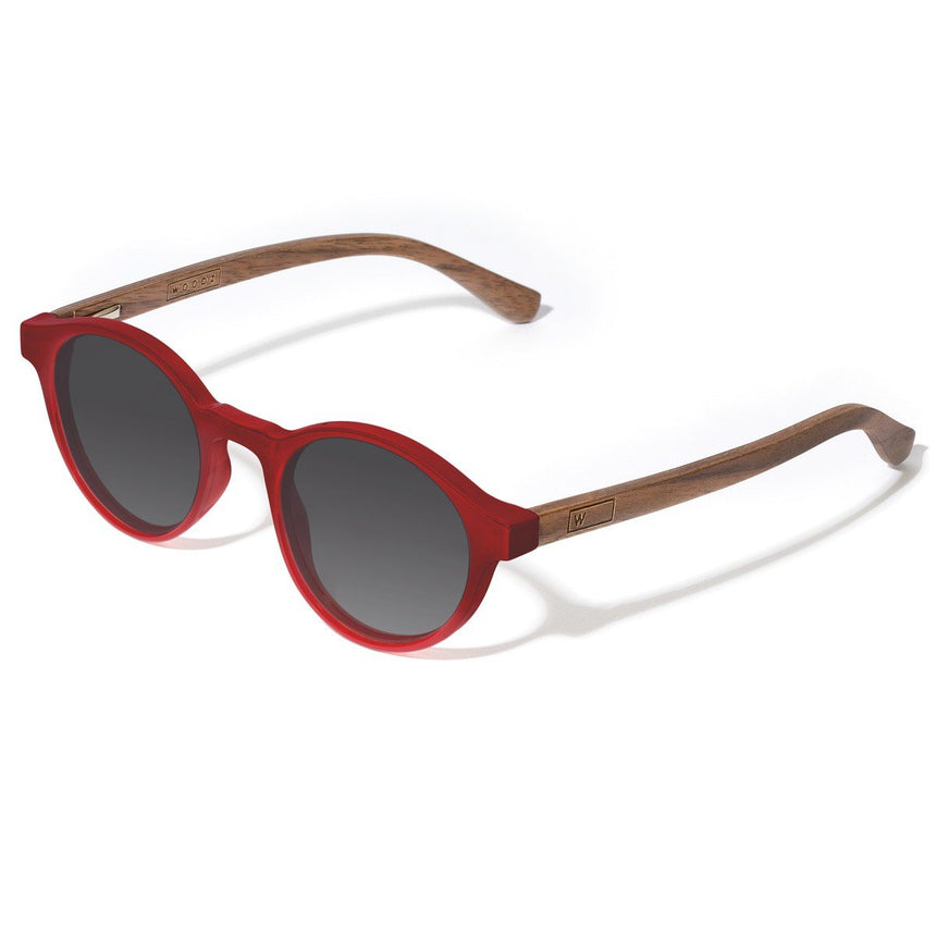Acetate & Wood Sunglasses | Woodz Nino Red