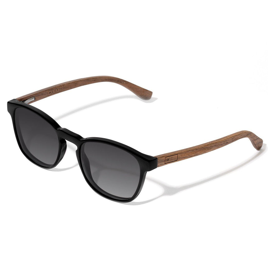 Acetate & Wood Sunglasses | Woodz Olli Black