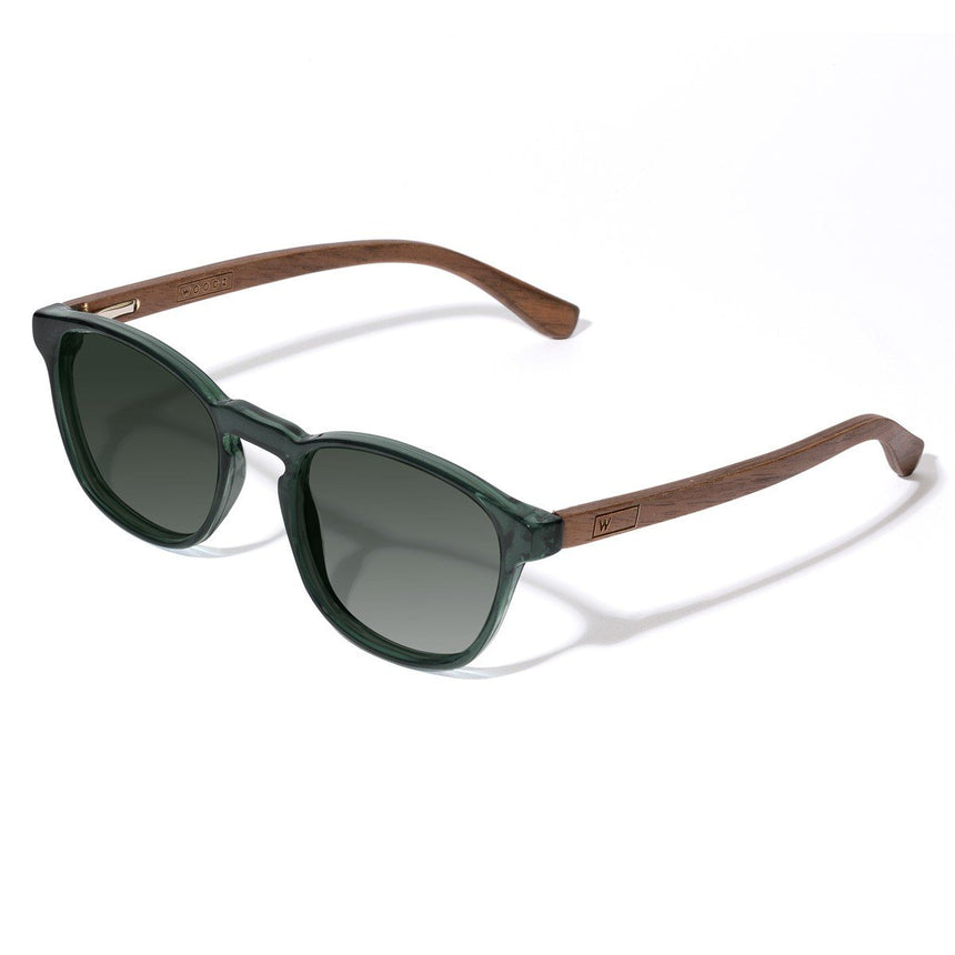 Acetate & Wood Sunglasses | Woodz Olli Green
