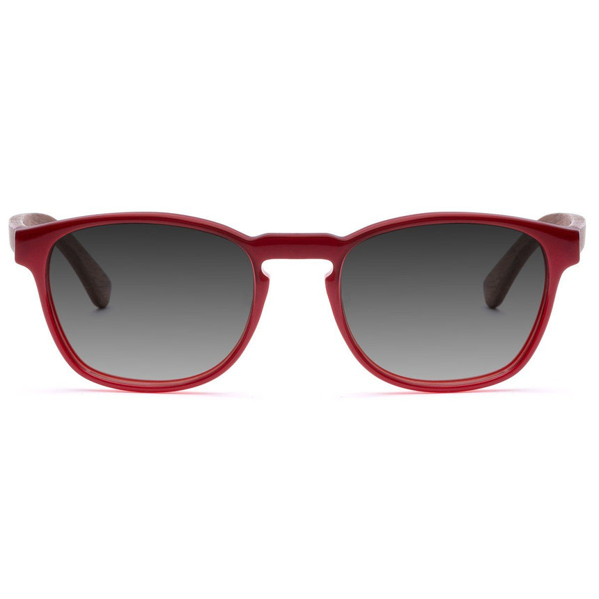 Acetate & Wood Sunglasses | Woodz Olli Red