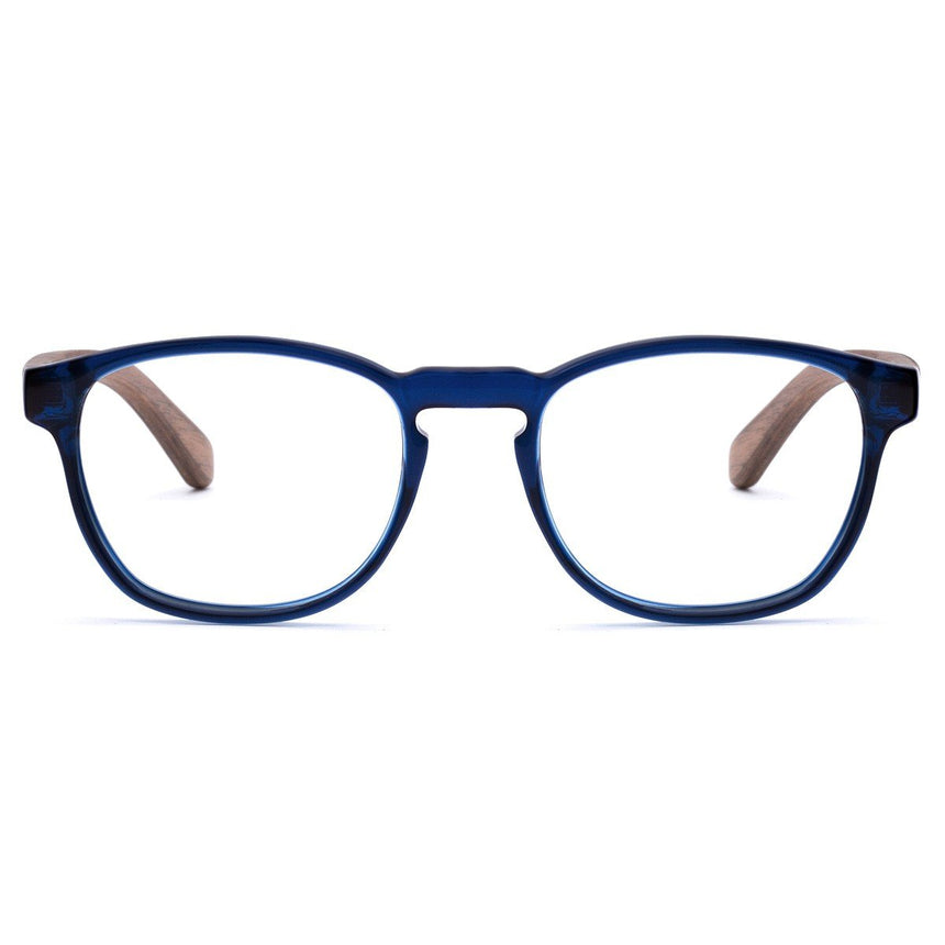 Acetate and Wood Optical Glasses | Woodz Olli Blue