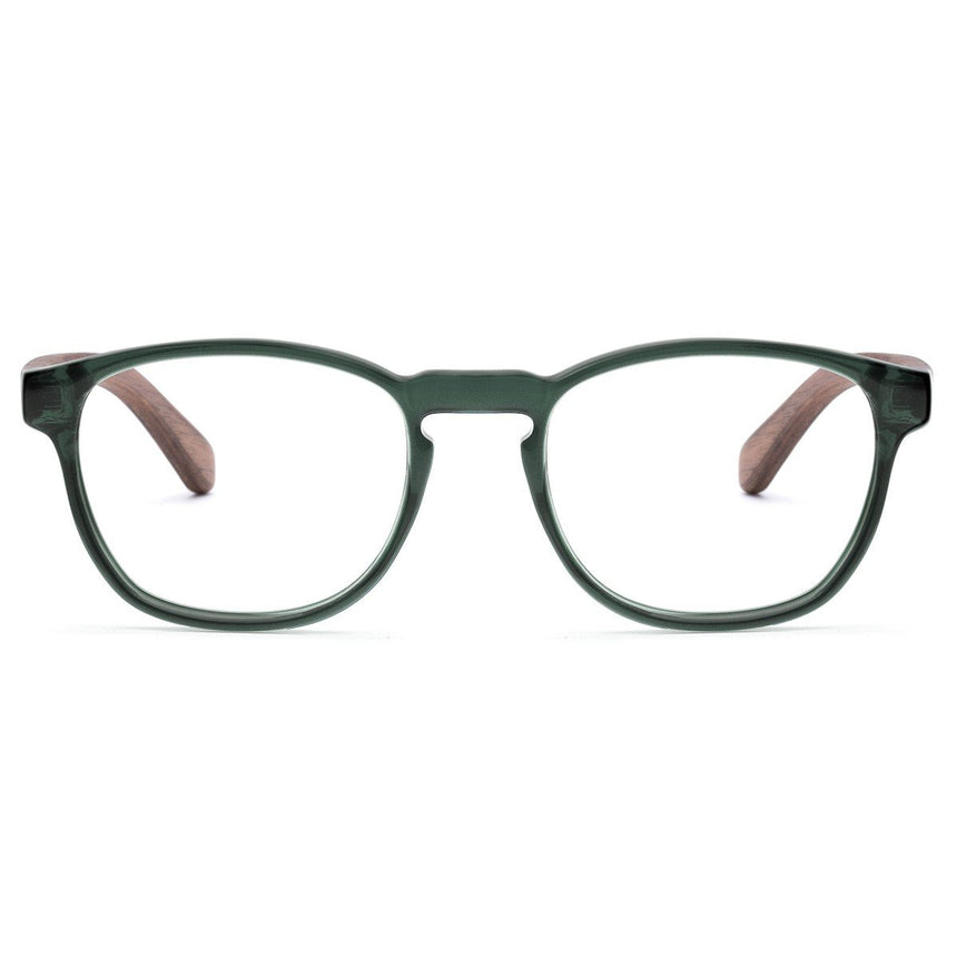 Acetate & Wood Optical Glasses | Woodz Olli Green