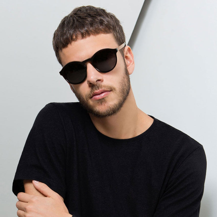 Acetate and Wood Sunglasses | Woodz Elli Black
