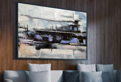 Abstract painting ready to hang canvas painting