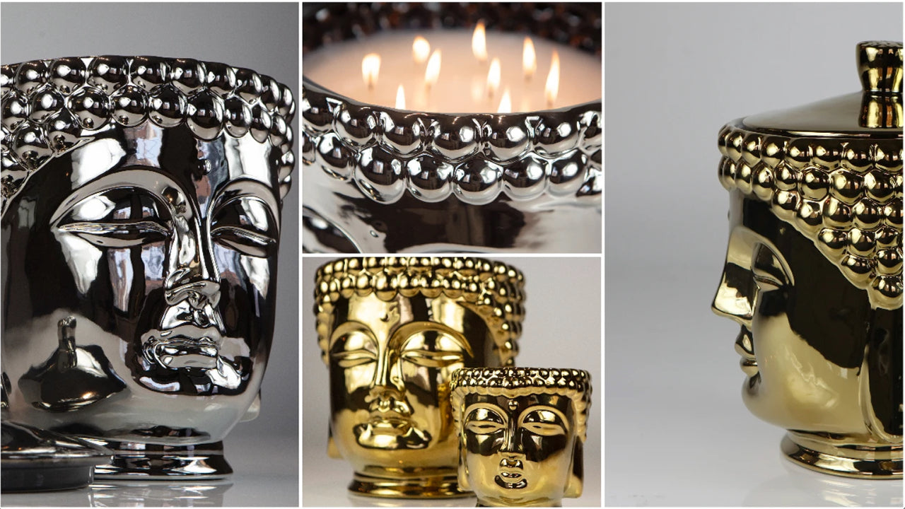 ceramic-silver-and-gold-buddha-head-candles-with-decorative-lid