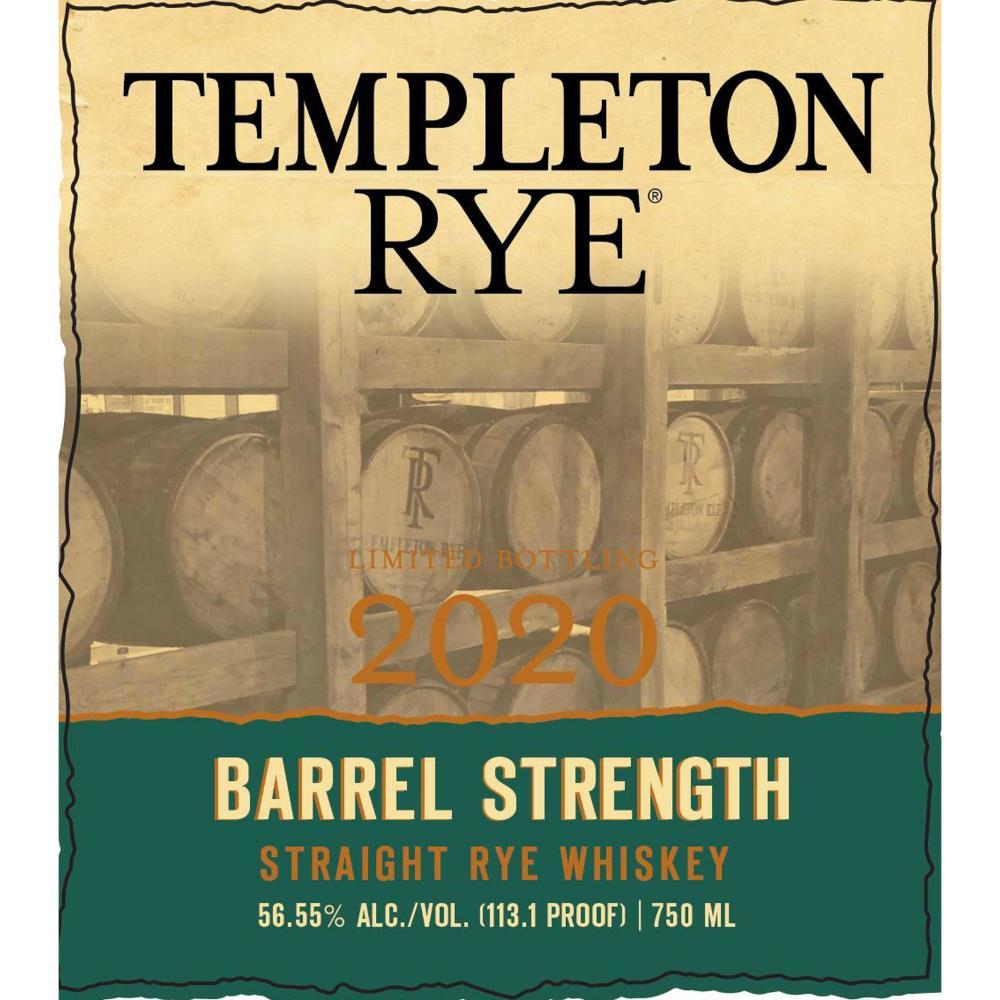 Buy Templeton Rye Barrel Strength 2020 online from the best online liquor store in the USA.