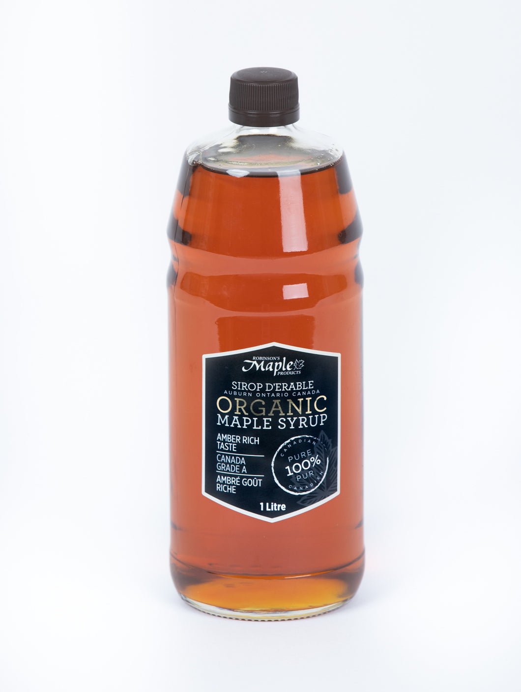 1 Litre Organic Amber Maple Syrup