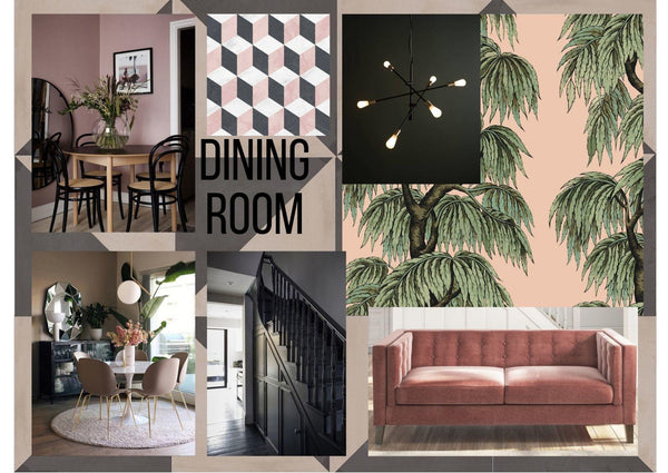 Dining Room Interior Design Moodboard