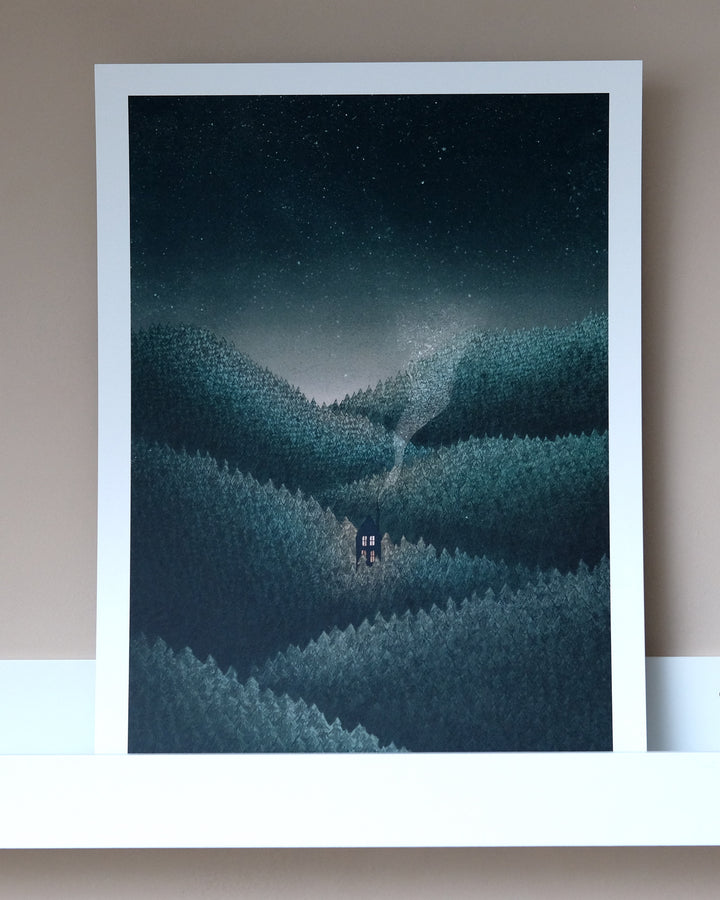 In The Pines A3 Print by Fleck Illustration at Albert & Moo