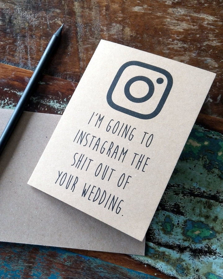 Instagram Wedding Card at Albert & Moo