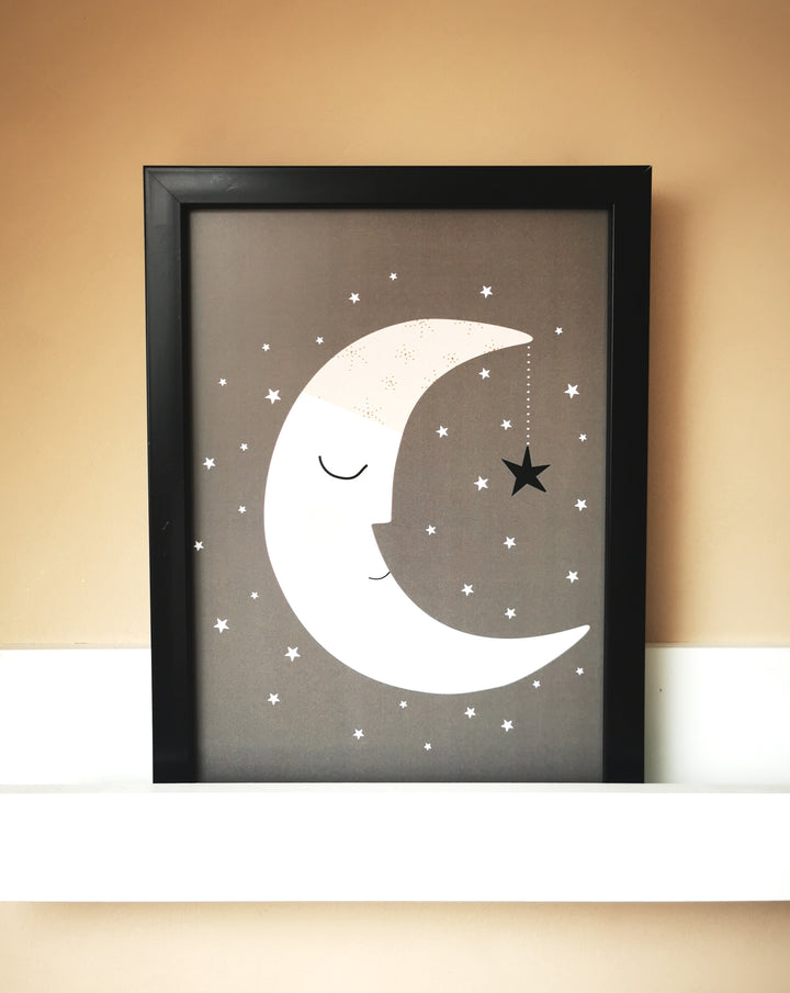 Luna Gris A4 Print by Haciendo el Indio at Albert & Moo