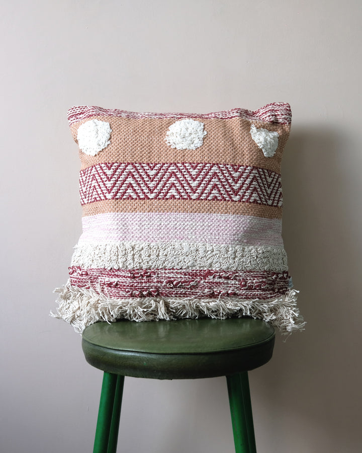 Nevada Striped Pom Pom Cushion by Sass & Belle at Albert & Moo