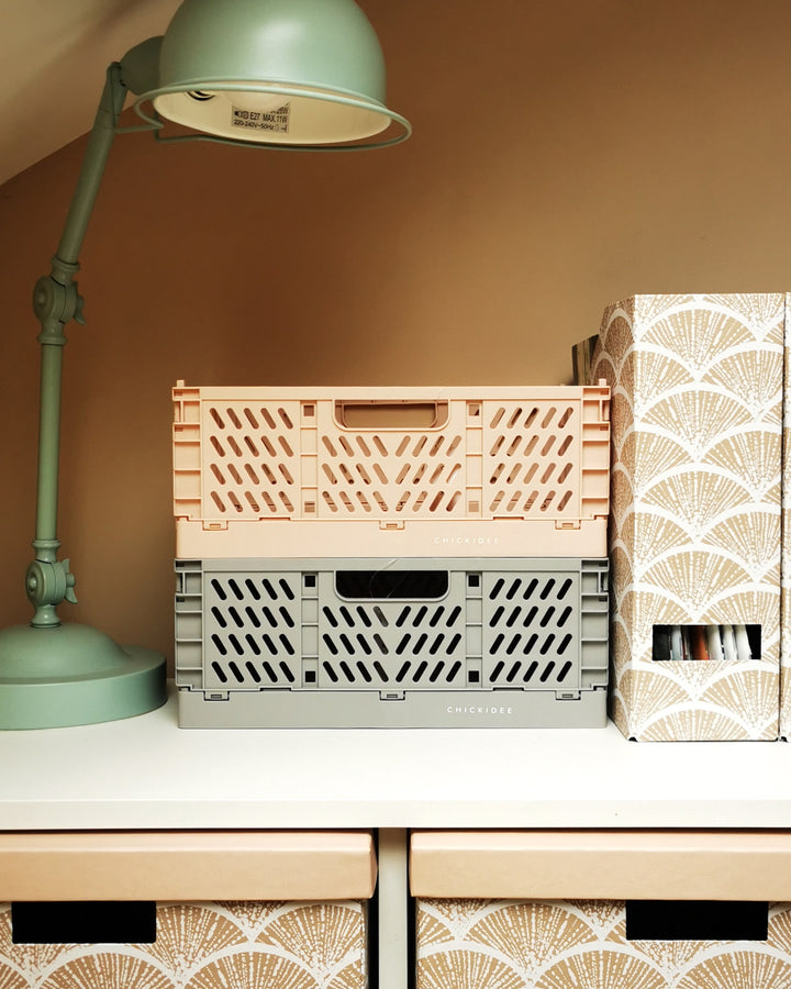 Pink Recycled Plastic Folding Crate at Albert & Moo