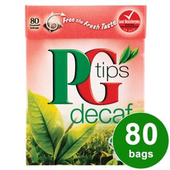 PG Tips Decaffeniated Tea Bags  80 Count