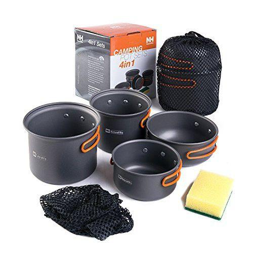 Outdoor 4 in 1 Camping Cookwar - Hikersparadisesa