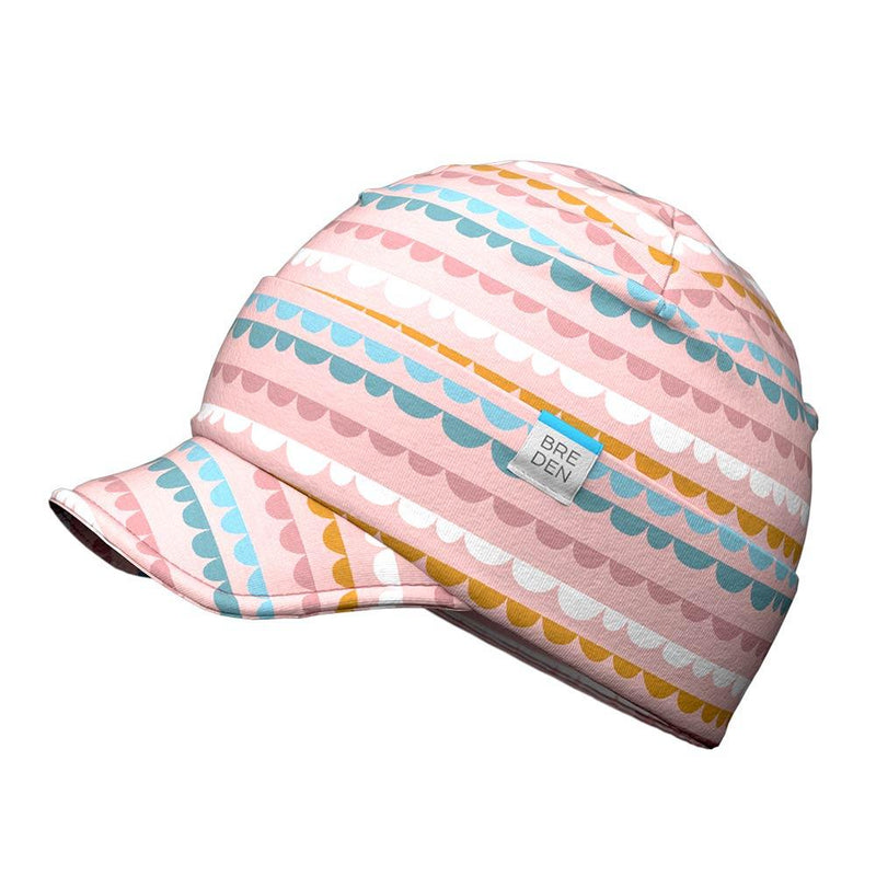 Bo peaked organic cotton spring hat for kids