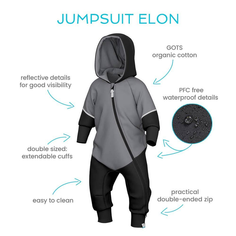 Jumpsuit with waterproof details