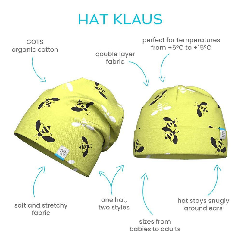 Klaus double cotton spring hat for kids