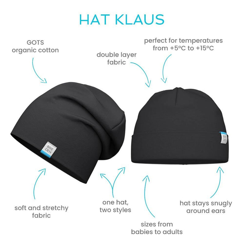 Klaus kids double cotton stretchy spring hat