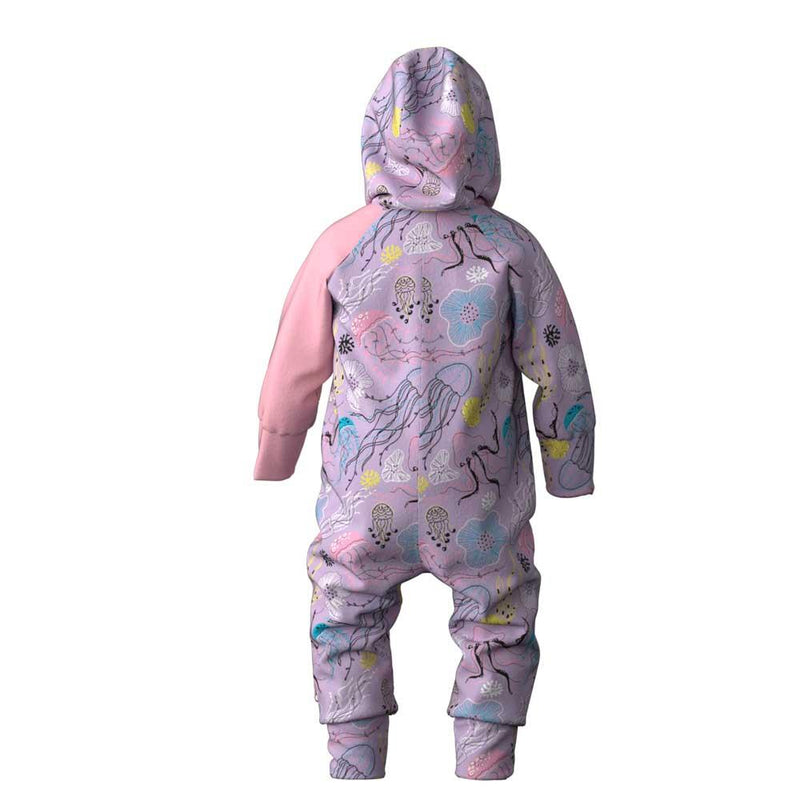 Major baby's merino wool lined jumpsuit with hood